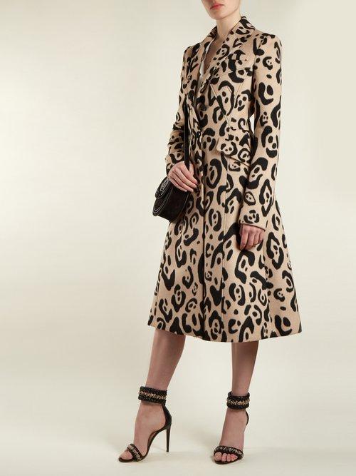 Driss Leopard Print Wool Coat by Altuzarra