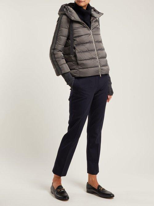 Hooded Nylon Short Jacket by Herno