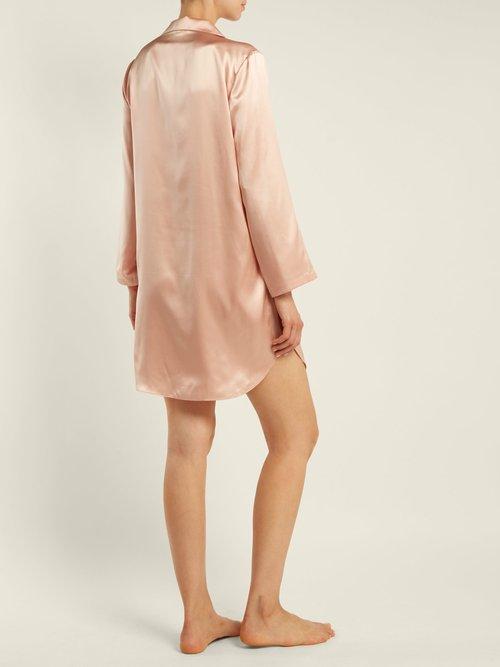 Jillian Silk Charmeuse Shirtdress by Morgan Lane