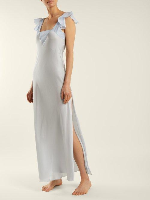 Celia Silk Maxi Nightdress by Three Graces London