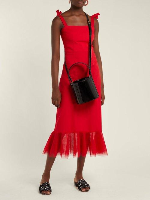 Langdon Cotton Blend Dress by Staud