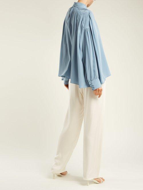 Losaline silk crepe de Chine blouse by The Row