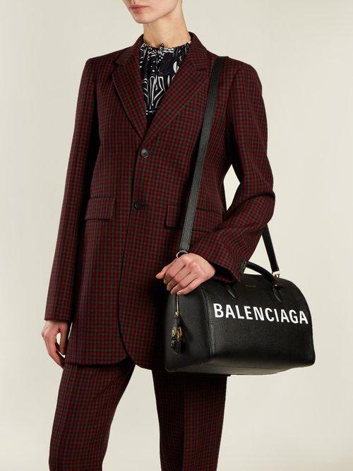 Ville Bowling M leather bag by Balenciaga