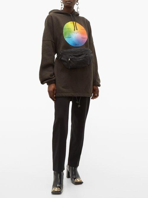 Striped logo belt bag by Balenciaga