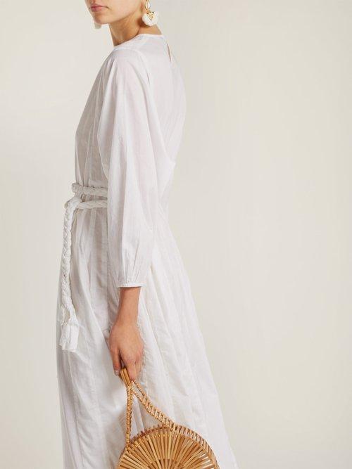 Devi braided belt cotton dress by Rhode Resort