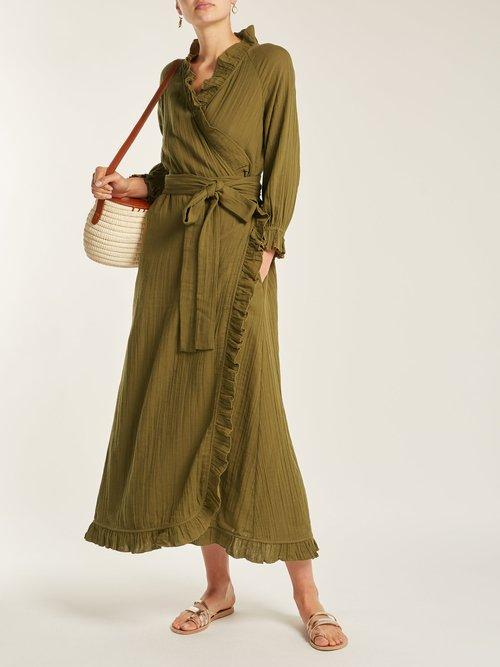 Jagger ruffle-trimmed cotton dress by Rhode Resort