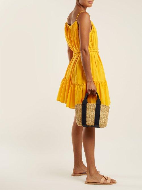 Nala tie-waist cotton dress by Rhode Resort