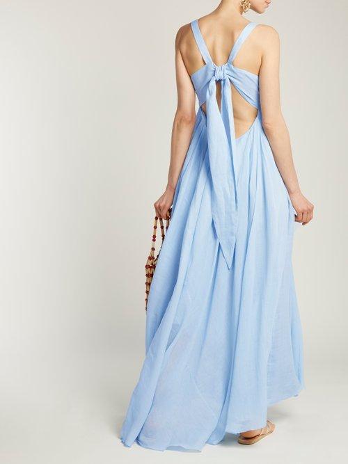 Janie pleated ramie dress by Three Graces London