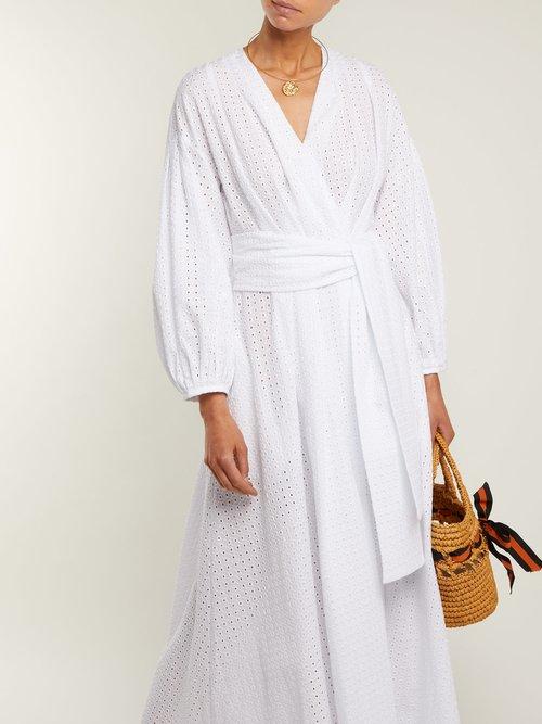 Roksana cotton broderie-anglaise maxi dress by Three Graces London