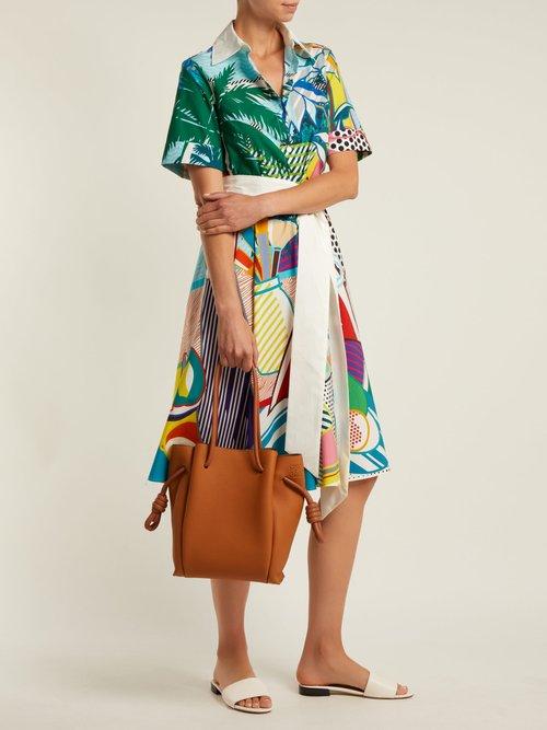 Cecilia pop art-print cotton dress by Mary Katrantzou