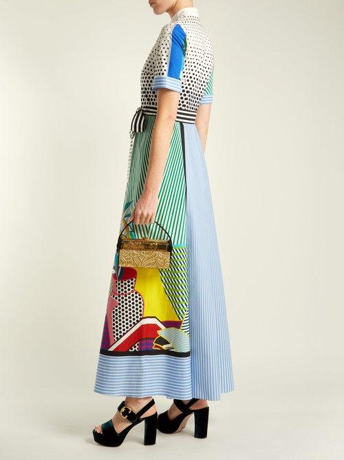 Marlene pop art-print cotton dress by Mary Katrantzou