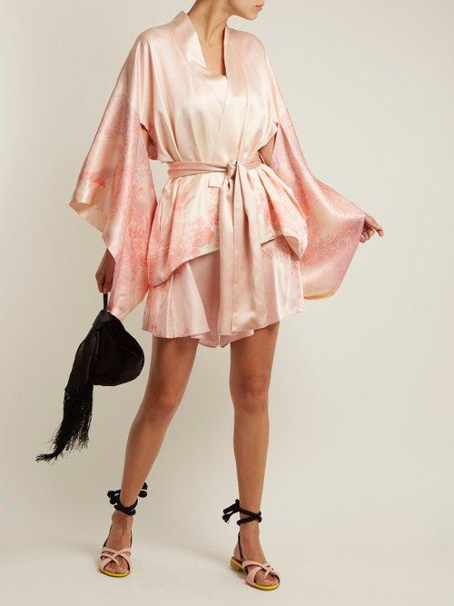 Floral Print Silk Kimono Jacket by Hillier Bartley