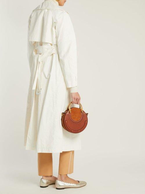 Lauren scallop-edge leather ballet flats by