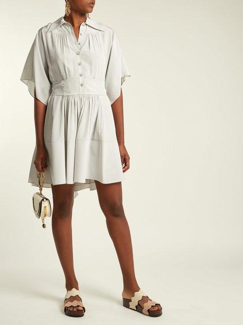 Lauren double-strap leather flatform sandals by