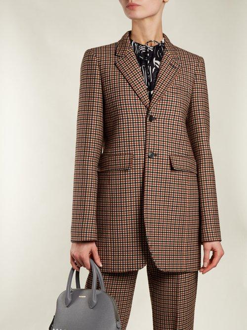 Single Breasted Wool Blend Tweed Jacket by Balenciaga