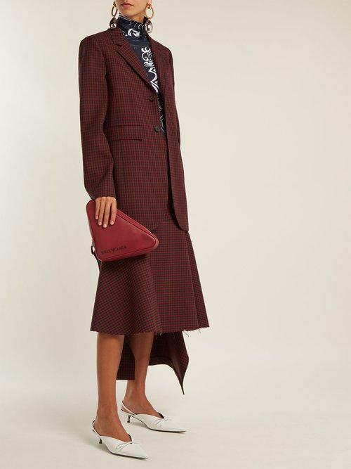 Single Breasted Checked Wool Jacket by Balenciaga