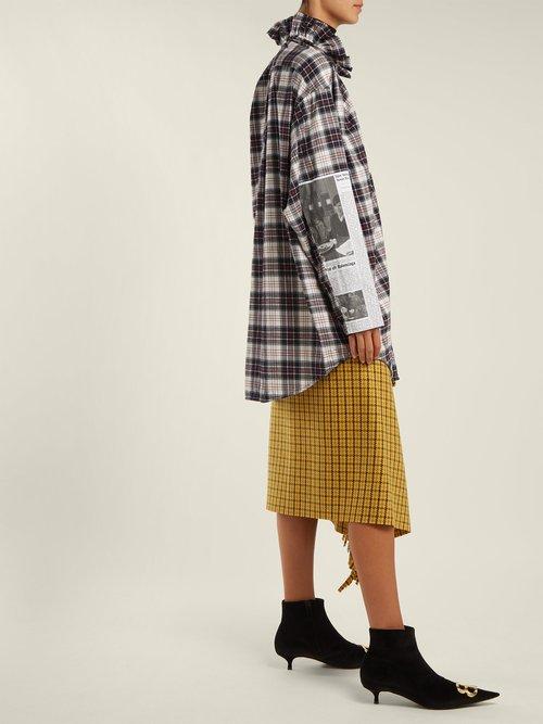 Oversized checked brushed-cotton shirt by Balenciaga