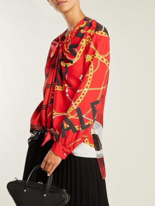 Printed knot blouse by Balenciaga