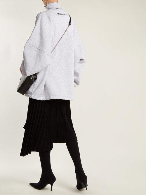 Oversized roll-neck cotton sweatshirt by Balenciaga