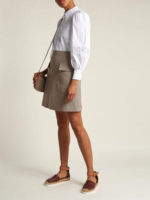 Cotton poplin blouse by
