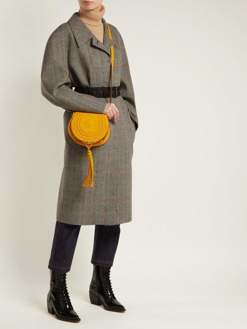 Marcie mini suede cross-body bag by
