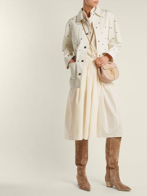 Drew mini leather cross body bag by