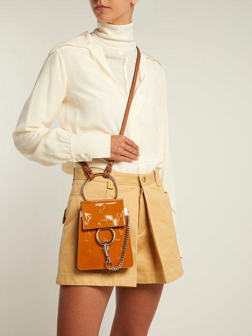 Faye mini Little Horses-debossed bag by