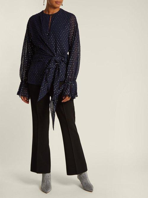 Tie-front blouse by Jonathan Simkhai