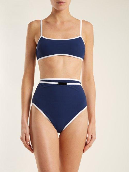 Cheeky high-rise belted bikini briefs by Diane Von Furstenberg