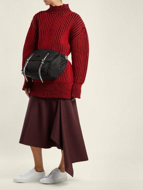 New Vela nylon belt bag by Prada