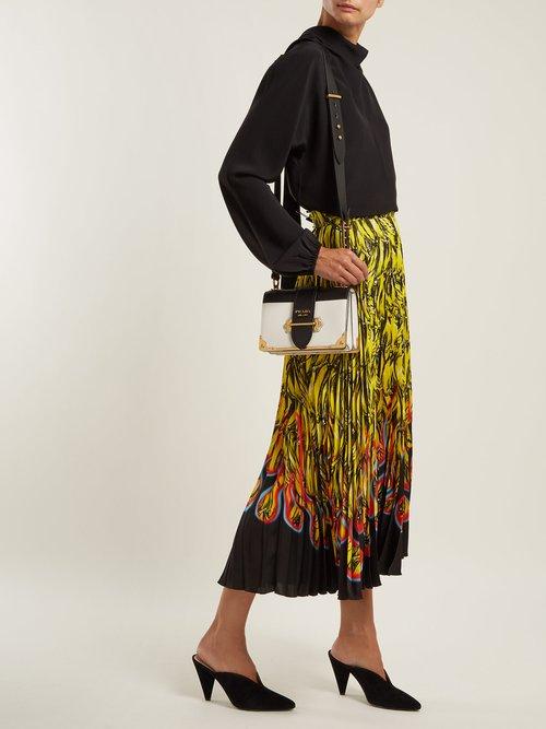 Cahier leather cross-body bag by Prada