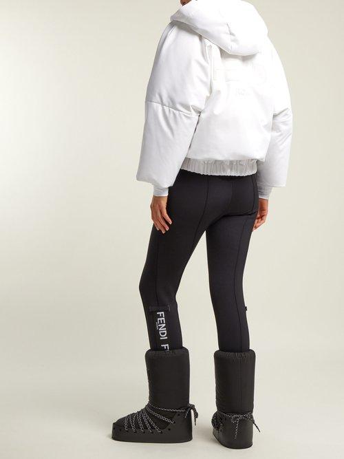 Velvet Logo Snow Boots by Fendi