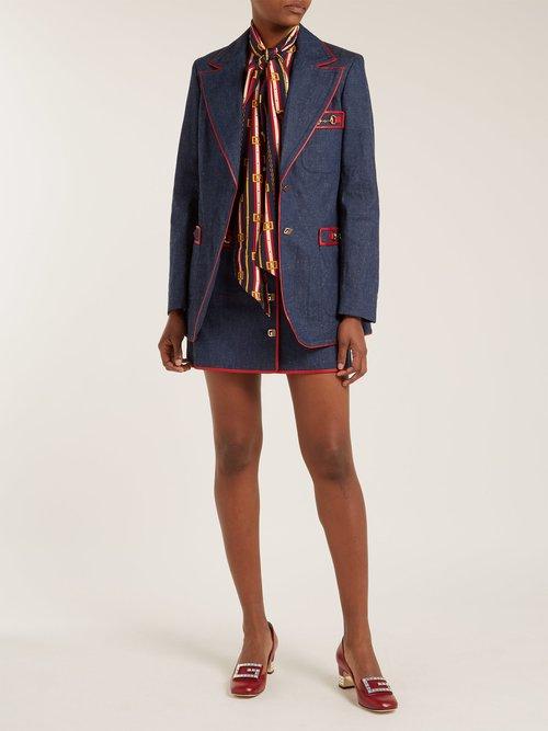 Wrinkled Denim Blazer by Gucci