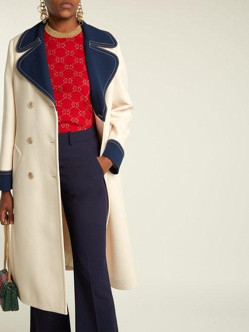 Gardenia Wool Coat by Gucci