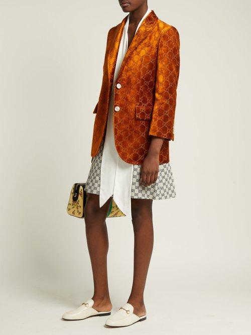 Embroidered Velvet Blazer by Gucci