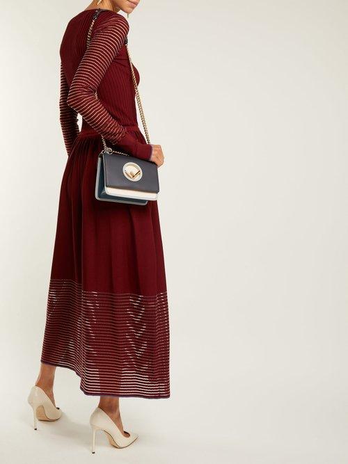 Kan I Logo leather cross-body bag by Fendi