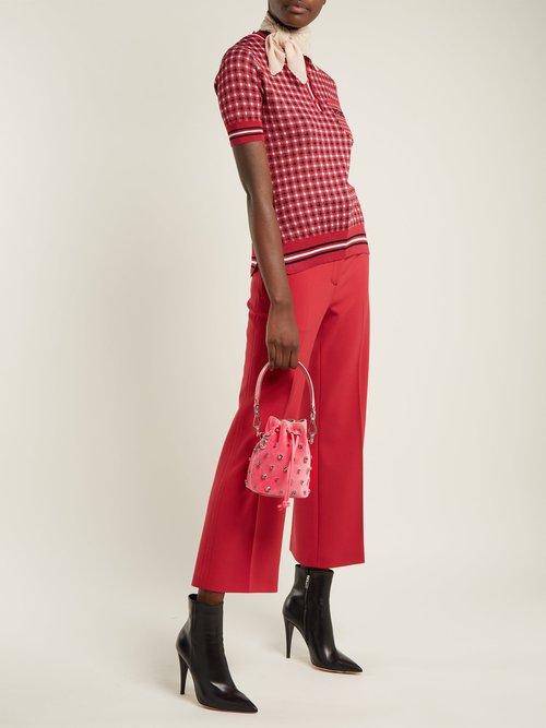 My Secrets crystal-embellished velvet bucket bag by Fendi