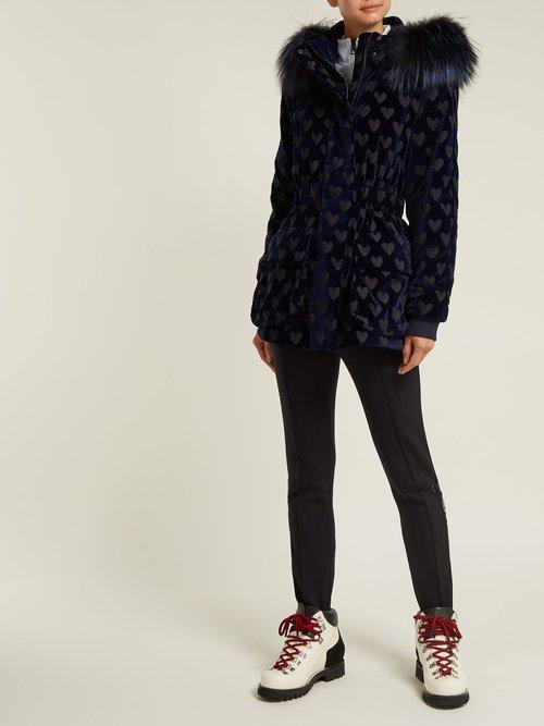 Heart Motif Velvet Jacket by Fendi