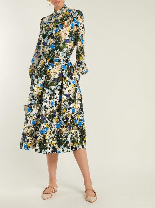 Edlyn Mariko-print silk blouse by Erdem