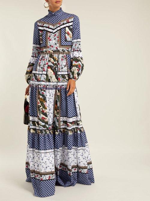 Cassandra Floral Print Cotton Dress by Erdem