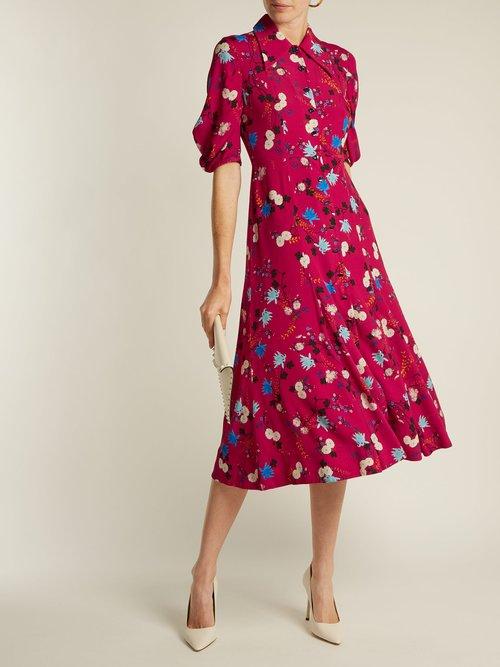 Gisella floral-print midi dress by Erdem