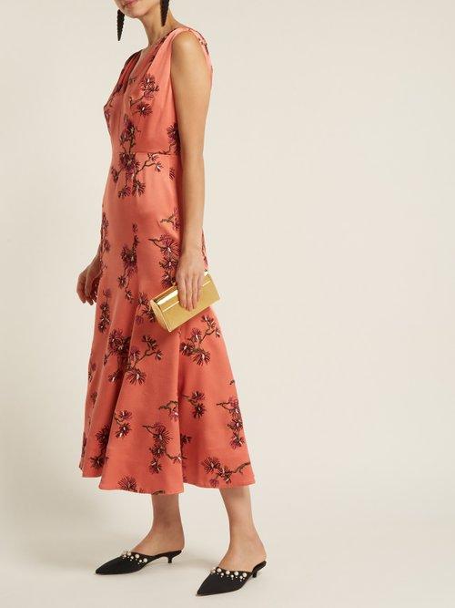 Honora satin dress by Erdem