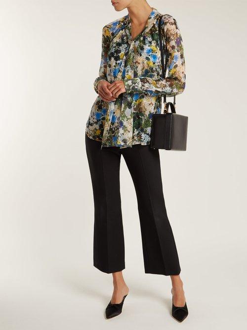 Rosabel Mariko-Meadow silk blouse by Erdem