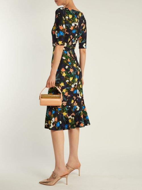 Glenys Mariko Meadow Print Jersey Midi Dress by Erdem