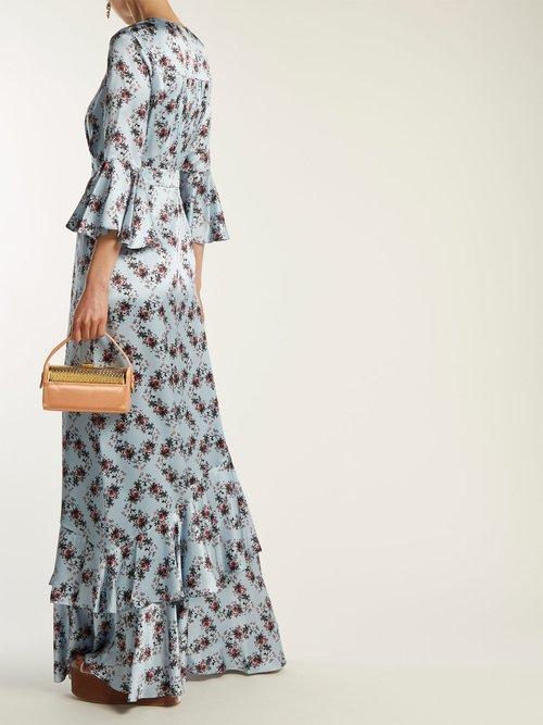 Venice Keiko-print silk gown by Erdem