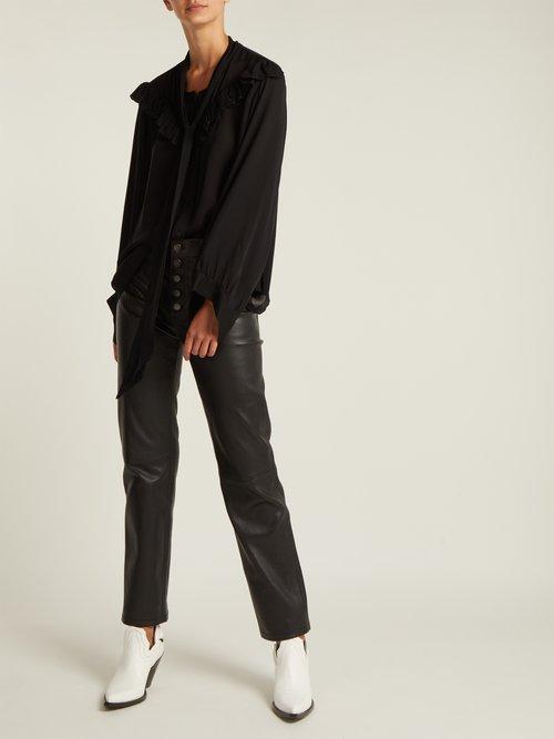 Vanna silk-georgette blouse by Nili Lotan