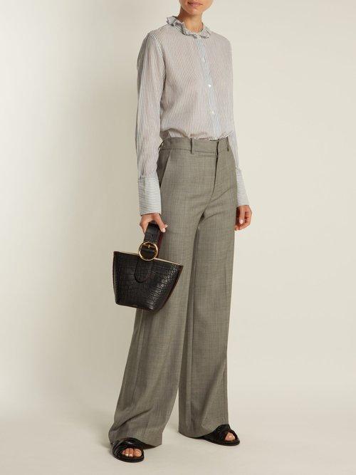 Nola cotton-twill shirt by Nili Lotan