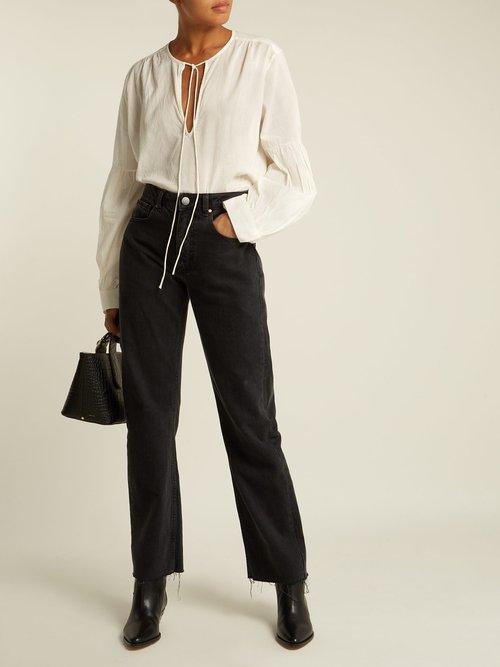 Anla V-neck blouse by Nili Lotan