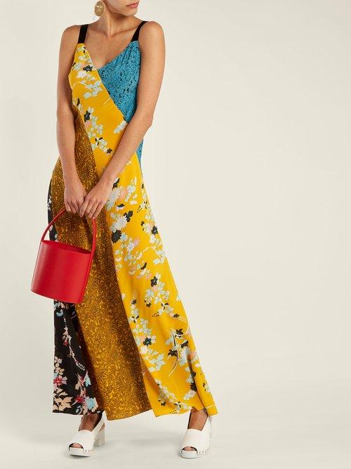 Photo of Calloway floral paisley-print silk maxi dress by Diane Von Furstenberg - shop Diane Von Furstenberg dressesonline sales