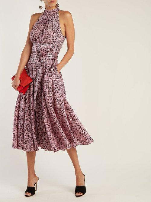 High-neck silk dress by Diane Von Furstenberg